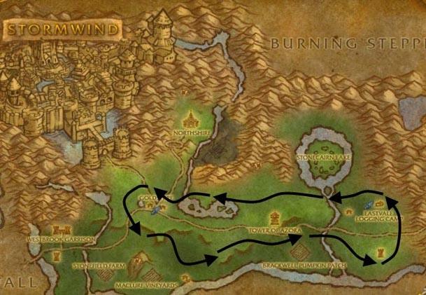elwynn-forest-herbalism-route