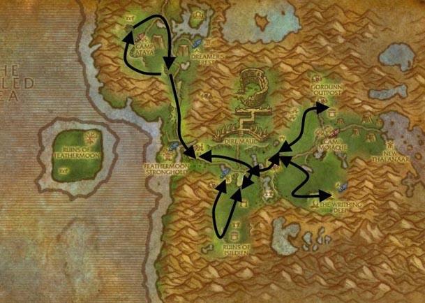 feralas-herbalism-route