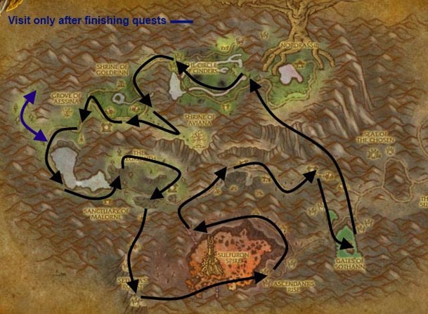 hyjal-herbalism-route