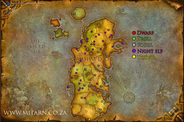kalimdor-archaeology-map