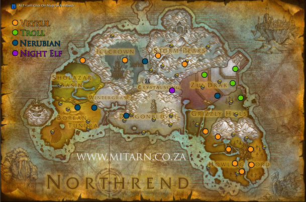northrend-archaeology-map