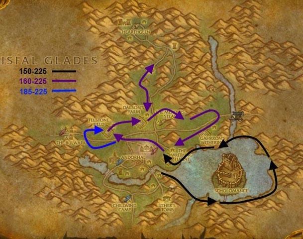 western-plaguelands-herbalism-route