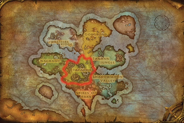 Map of Draenor small