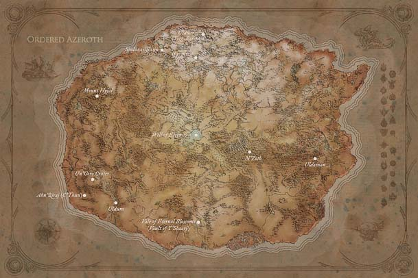 Aincient Kalimdor Map Small