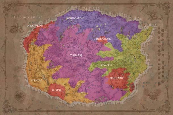 Карта Черной Империи Древних Богов Азерота