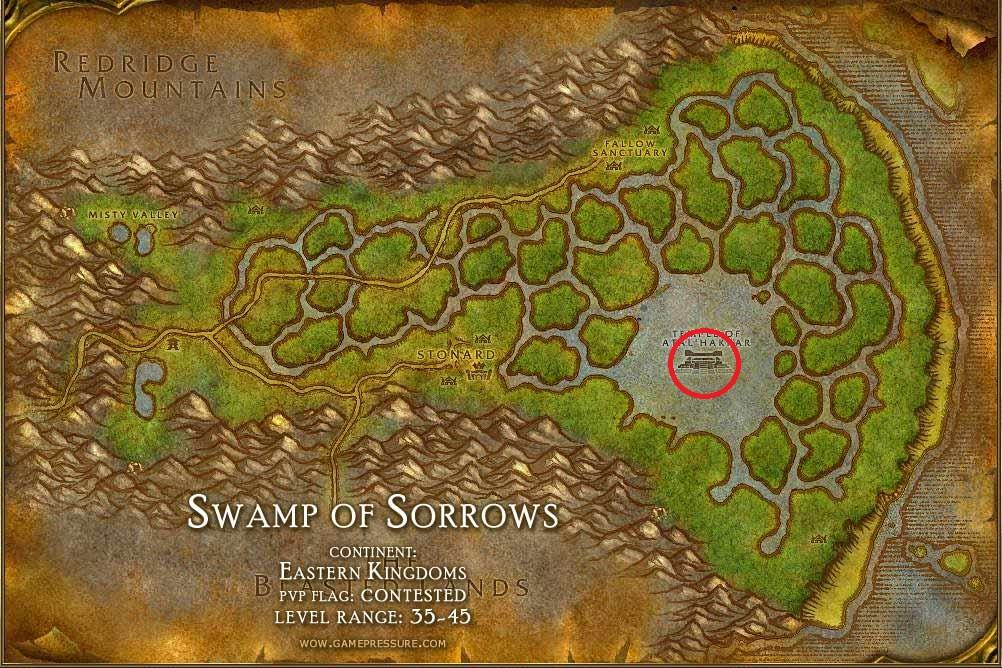 Wow где находится затонувший храм в wow 3.3.5