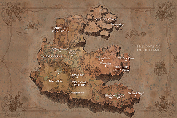 Outland Map Small